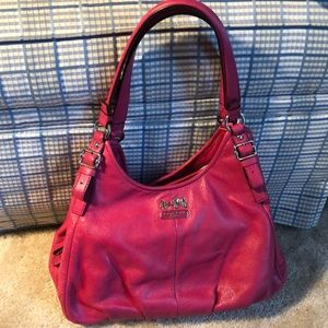 Coach pink leather hobo .